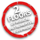2 floors of musical instruments